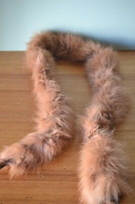 Vintage women's / ladies tan fur collar