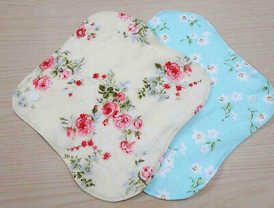 2 Pcs New Reusable Charcoal Panty Liner Hand Washable Cotton Knit Cloth Hot Sale