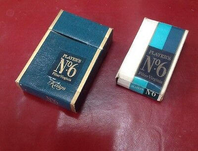 Two Empty No 6 Cigarette Packets From The 1970's