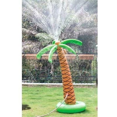 """Inflatable Kids Water Spray Coconut Palm Tree Sprinkler Squirt Lawn Toy 76"""" High"""