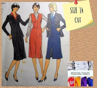 Style 1718 Sewing Pattern Misses Jacket, Waistcoat & Skirt Size 14 Vintage 1970s
