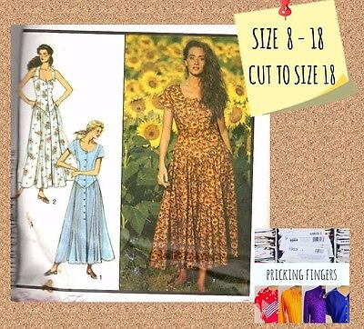 Style 1705 Sewing Pattern Misses' Dress Plus Size 8 10 12 14 16 18 Full Skirt