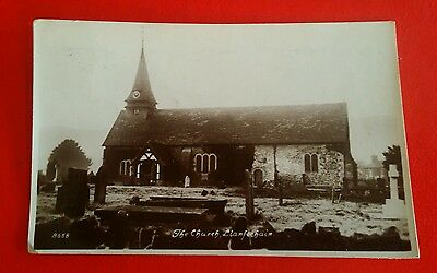 VINTAGE POSTCARD - THE CHURCH, LLANFECHAIN - Early 1900's.