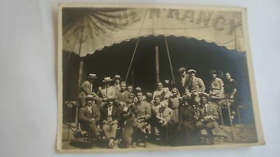 Cpa Cirque N. Rancy Carte Photo Format 14 X 10,5 Cm Montreur D Ours
