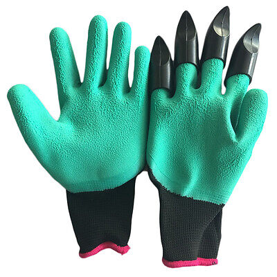 Hot Garden Gloves For Digging&Planting with 4 ABS Plastic Claws Gardening