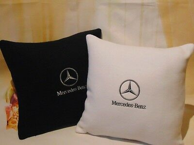 Mercedes Benz Embroidered 2x Pillows Gift For Him