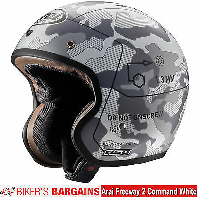 "Arai Freeway 2 ""Command White"" Was £ 299.99 - Now £189.99 (35% OFF!)"