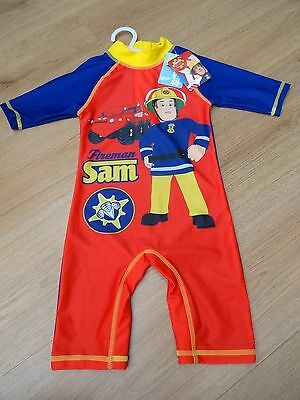 Baby Boys Bnwt Age 18-24 Months Uv Safe Sun Swim Suit Costume Fireman Sam 40+