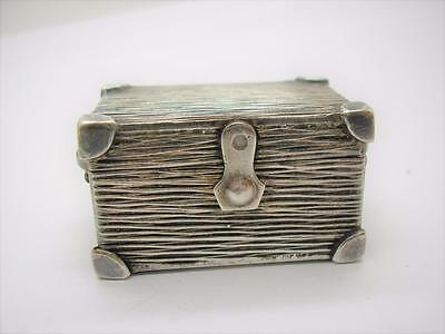Antique Silver Trunk Shaped Snuff Box