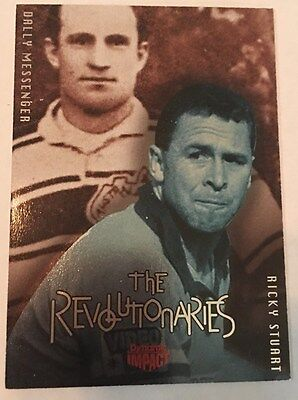 1995   Ricky Stuart /  Dally Messenger   The Revolutionaries   Rugby League Card