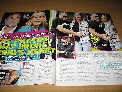 RUSSELL CROWE - 2 page magazine clipping - TERRI IRWIN
