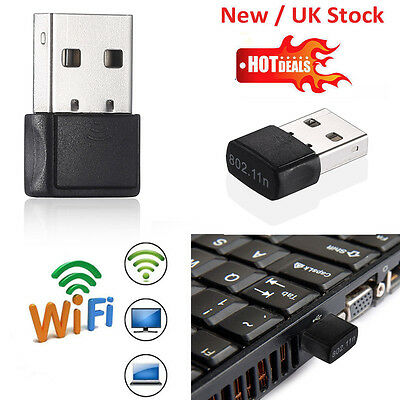 150Mbps Mini USB WiFi Dongle 802.11 B/G/N Wireless Network Adapter for Laptop PC