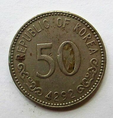 1959 Republic of Korea 50 Won Coin