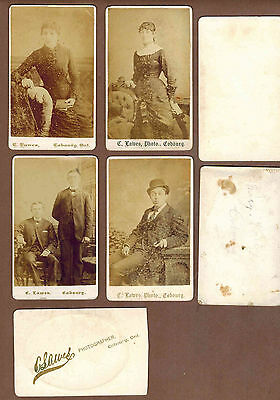 COBOURG, ONTARIO, CANADA: Collection of Rare Victorian CABINET CARDS