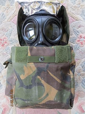 British Army S10 Gas Mask (Size 3), Wrapped Filter & Good Haversack!