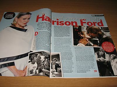 CARRIE FISHER & HARRISON FORD - Magazine Clipping