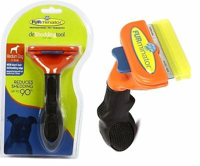 "Medium Dog Short-Hair FURminator DeShedding Tool 2.65"" Edge Blade Brush Comb"