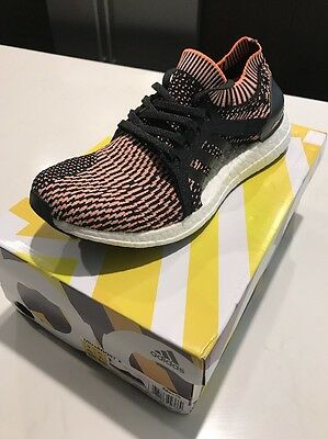 Adidas Women's UltraBOOST X Running Shoes Black Glow Orange Size 9 US (BA8278)