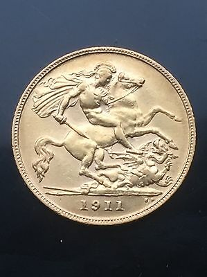 Gold half sovereign 1911