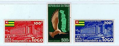 Togo - 1960 C31-33, Independence Proclamation Air Post Issue (MNH)