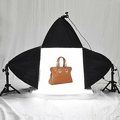 "16"" Cube Light Tent Backdrop 3x Softboxes Table Lighting Kit 45w Photo Studio"