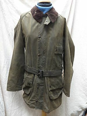 "BARBOUR Vintage 2 Crown Solway Zipper Waxed Cotton Jacket 44"" Made in England"