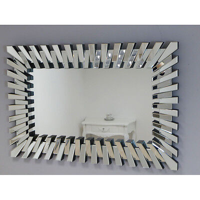 Large Rectangle 'Piano' Mirror 120x80 cm