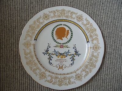 Princess Anne 1973 Royal Wedding commemorative plate-Crown Staffs-Ltd Edition