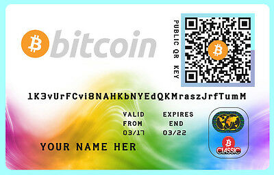 0.01 BTC - Bitcoins only 45,00 € + wallet plastic Card