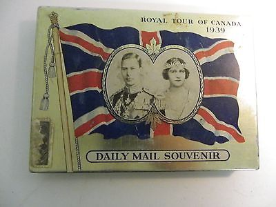 Daily Mail Royal Tour of Canada 1939 Cigarette Tin