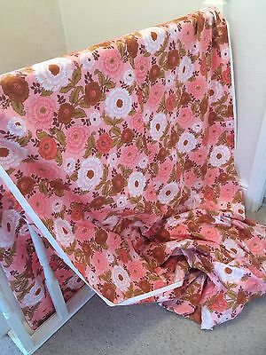 Vintage Fabric-Unused-Floral-Cotton-over 5 Meters