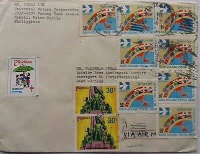 Mexico 1979 Cover Togermany With Tuberculosis Immunization Label
