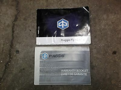 2014 Piaggio Fly 50 4T Owner's Manual & Warranty Booklet
