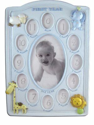 Baby Blue 12 Month Photo Frame