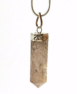 Reiki Energy Charged Smoky Quartz Crystal Stone Pendant Inc Silver Chain Gift
