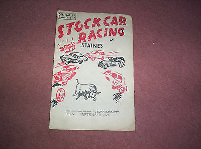 Staines  Programme 30 Sept. 1955