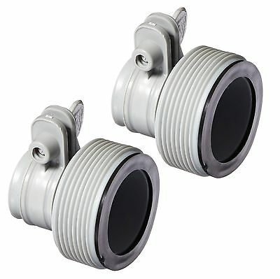 Intex Replacement Hose Adapter B w/ Collar for Filter Pump Conversion (Pair)