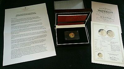 2015 22Ct Gold Proof Waterloo Guinea - The East India Company  Limited 800 Made