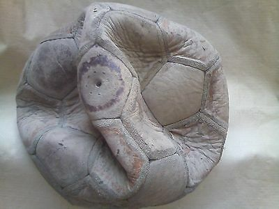 Old  LEATHER SOCCER BALL, CALCIO, FOOTBALL 18 Panels N°5 Used!!!