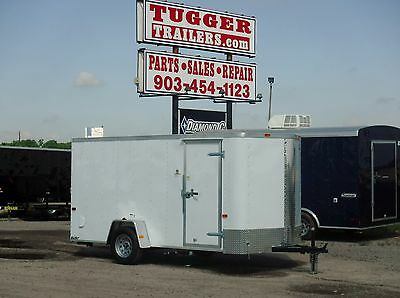 **ALL NEW Cargo Craft 6 x 12 6x12 Enclosed Cargo Craft ATV Motorcycle Trailer!**