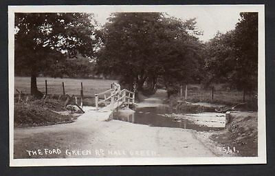 Postcard -  Birmingham - Hall Green   Real Photo The Ford Green Road