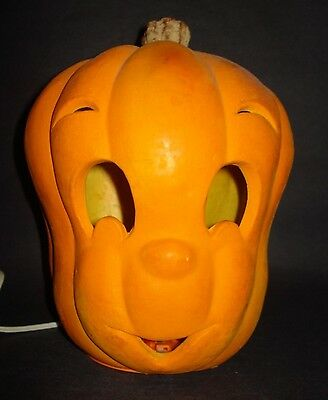CASPER GHOST Halloween Pumpkin JOL LANTERN LIGHT Foam Blow Mold Trendmaster VTG