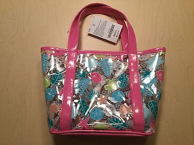 New Gymboree Girls Sea Creatures Jelly Tote Bag Swim Shop Collection