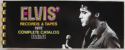 Elvis Presley Orginal 1972 RCA Records and Tapes Complete Catalog  ** Mint- **