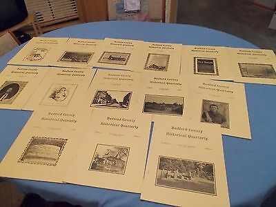 BEDFORD COUNTY(TENNESSEE) Historical Quarterly, Summer 1986...Fall 1991, 14 vols
