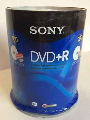 Sony DVD + R 120 min 4.6GB 1-16X RW AccuCore 100 pack New - read description