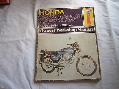 Honda superdream 250/400 Haynes Manual 1978 on