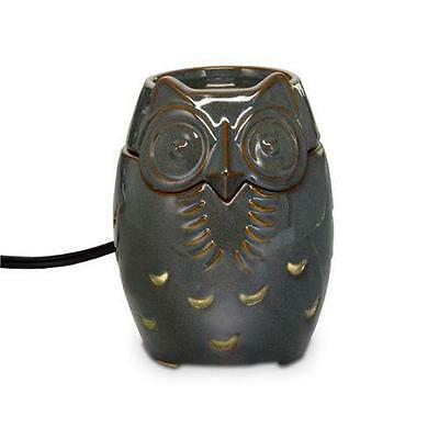 Partylite Scentglow Sage Owl Warmer Electric for Melts Wax Partylight ~ MINT!