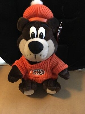 """1999 The A&W Great Root Bear Rootbeer Restaurants Plush 10.5"""""""