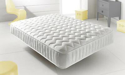 New Memory Foam Topped Sprung Mattress  3Ft 4Ft 4Ft6 Double 5Ft King 6Ft Uk Q